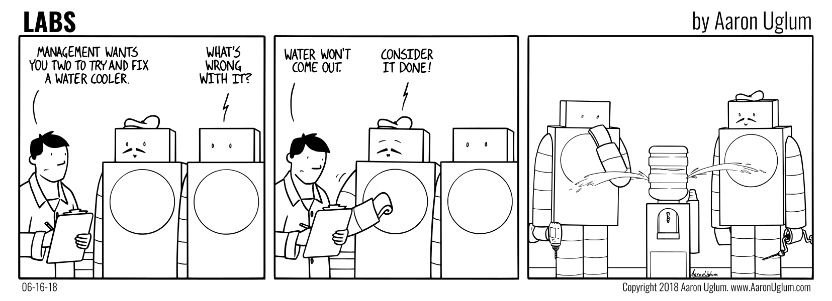 LABS 06/16/18 - Claude Helps Fix a Water Cooler