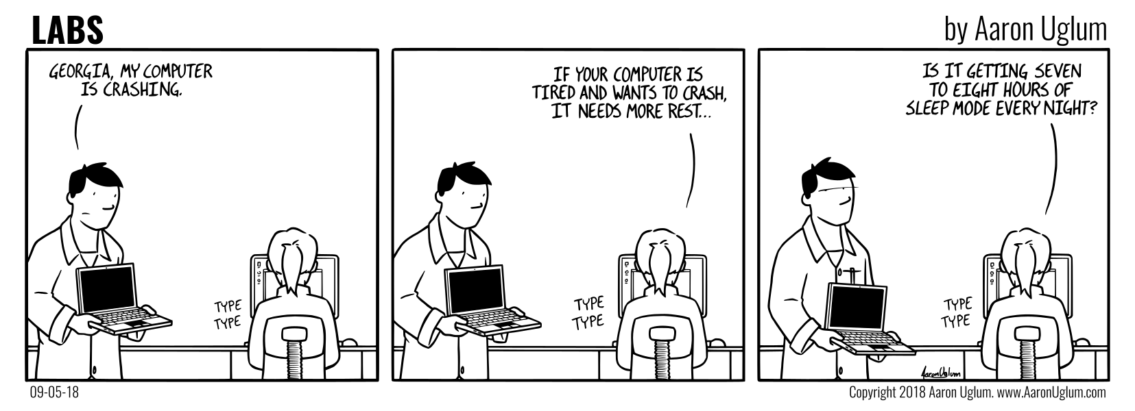 LABS Cartoon 09/05/18 - Crashing Computer